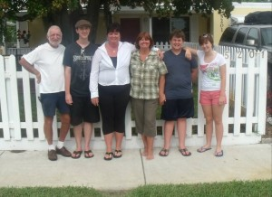 From left, Larry, Jonathon, Misty, Donna, Joseph, Lauren