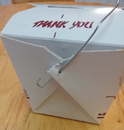 Opening a Chinese Take-Out Box