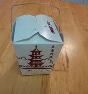 Chinese Take-Out Box with Handle