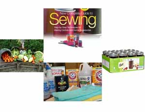 Sewing, Canning, Cleaning, Gardening