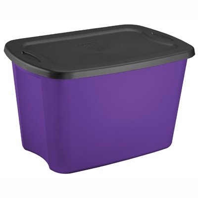Sterilite 18 Gallon Purple & Black Storage Toter