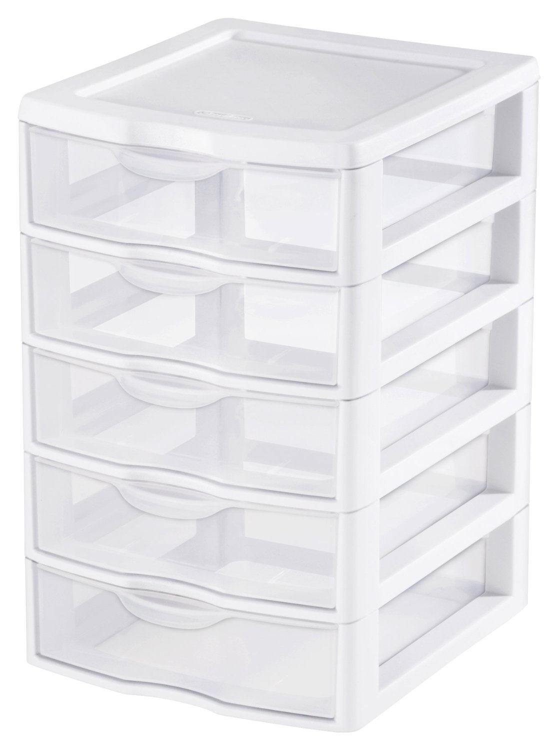 Sterilite Small 5-Drawer See-Through Organizer, 4-Pack
