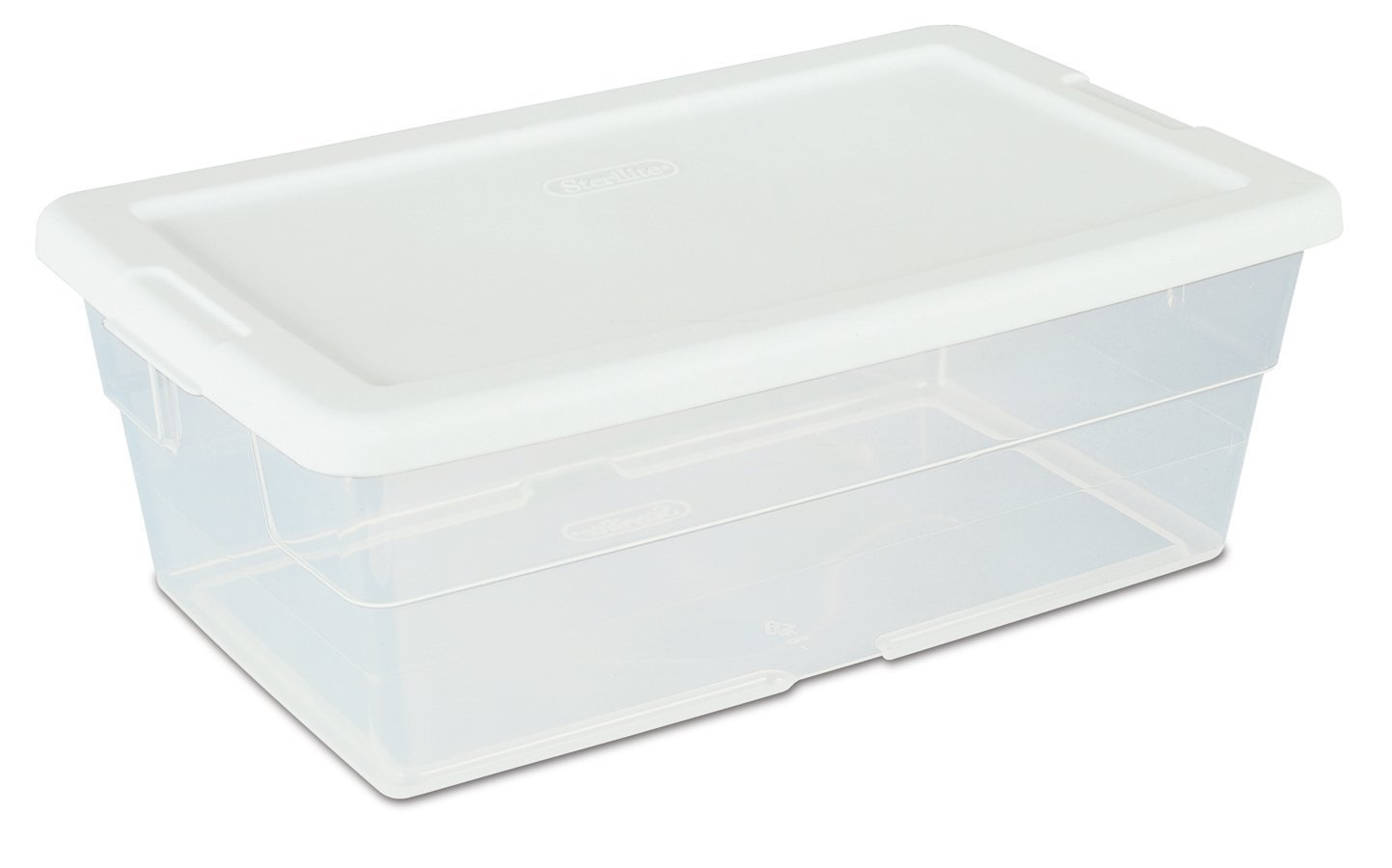 6-Quart See-Through Storage Box with White Secure Fit Lid, 12-Pack