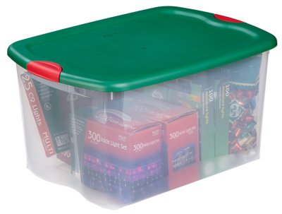 Sterilite See-Through Holiday Container