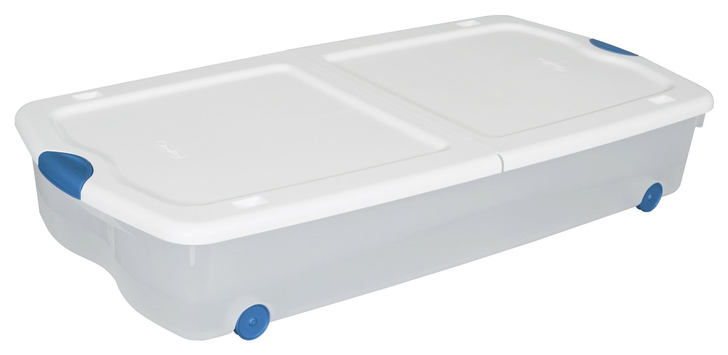 Sterilite 67-Quart See-Through-Wheeled-Underbed-Organizer
