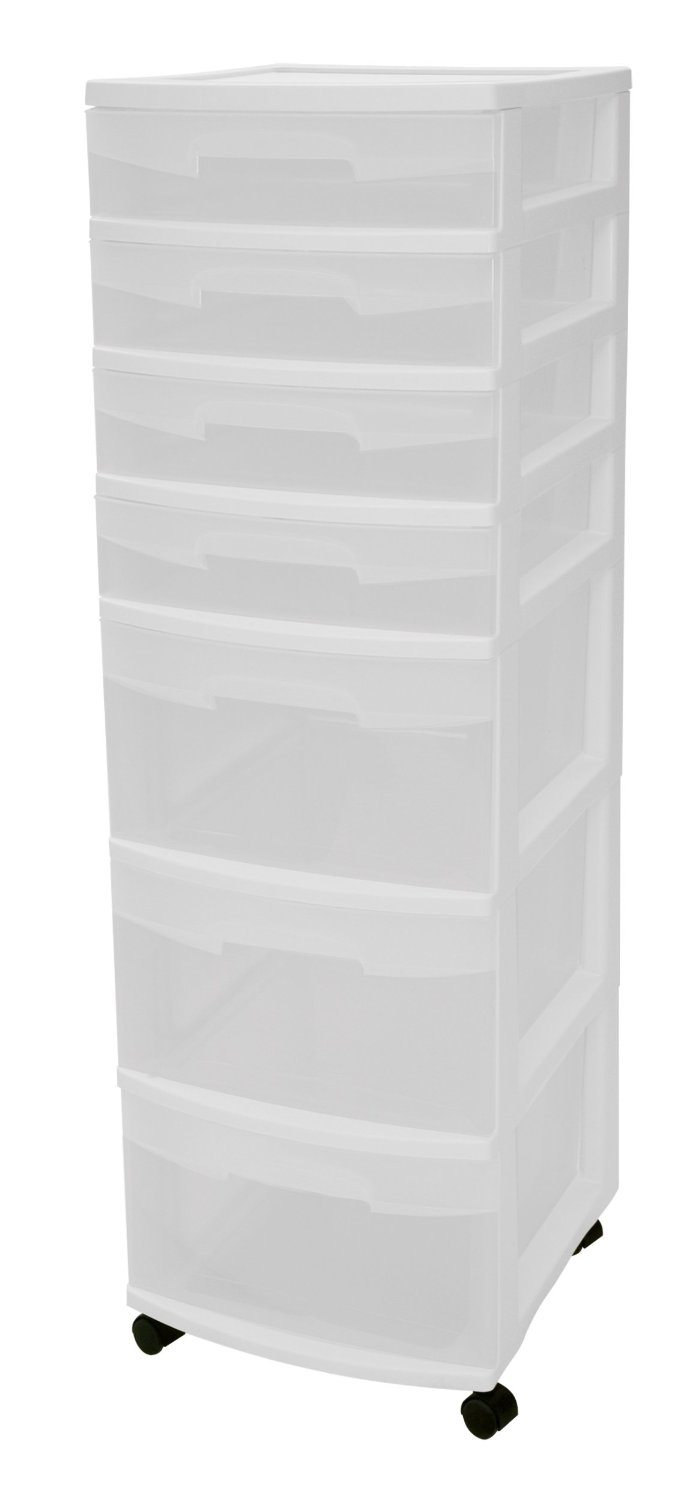 Sterilite 7-Drawer See-Through Storage Unit